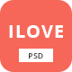 iLove - Creative Online Fashion PSD Template - ThemeForest Item for Sale
