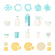 Set of Dairy Products in Flat Style - GraphicRiver Item for Sale