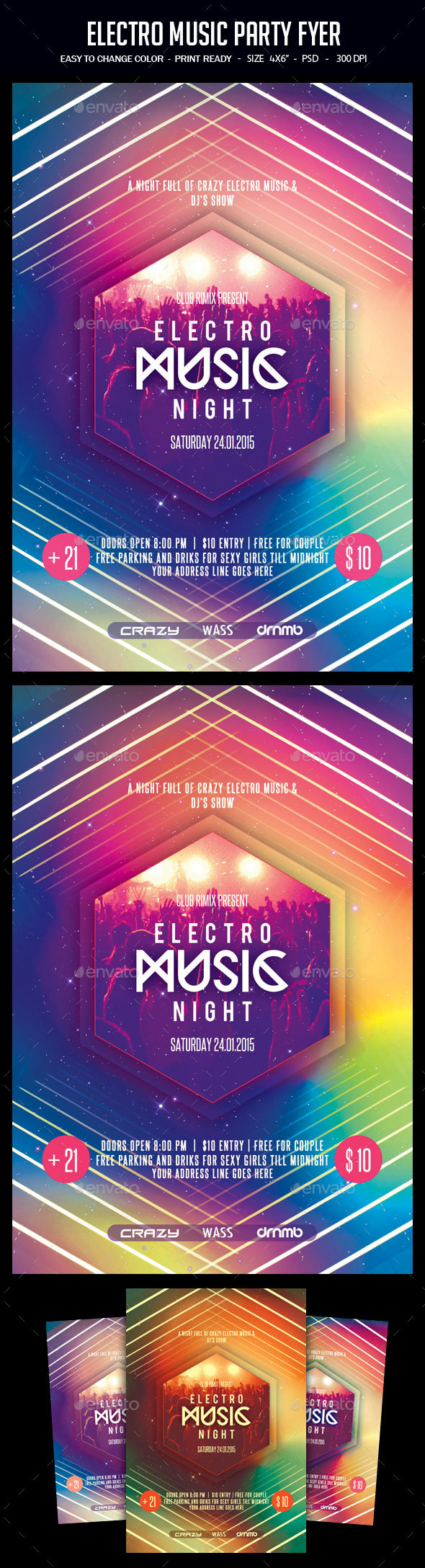 Dj and Electro Dance Graphics, Designs & Templates