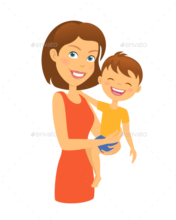 Mother with Child Happy Family