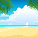 Sea Landscape With Palm Trees - GraphicRiver Item for Sale