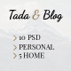 Tada & Blog - Personal PSD Template - ThemeForest Item for Sale