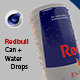 Redbull energy can with water drops - 3DOcean Item for Sale