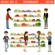 People In a Supermarket With Purchases.  - GraphicRiver Item for Sale