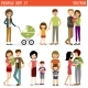 Set Of People With Children - GraphicRiver Item for Sale
