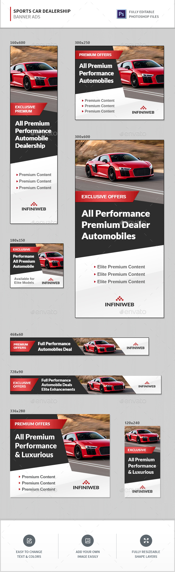 Car Banners Ad Templates From Graphicriver