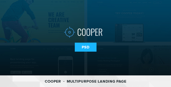 Cooper – 4 in 1 Multipurpose Landing Page PSD Template
