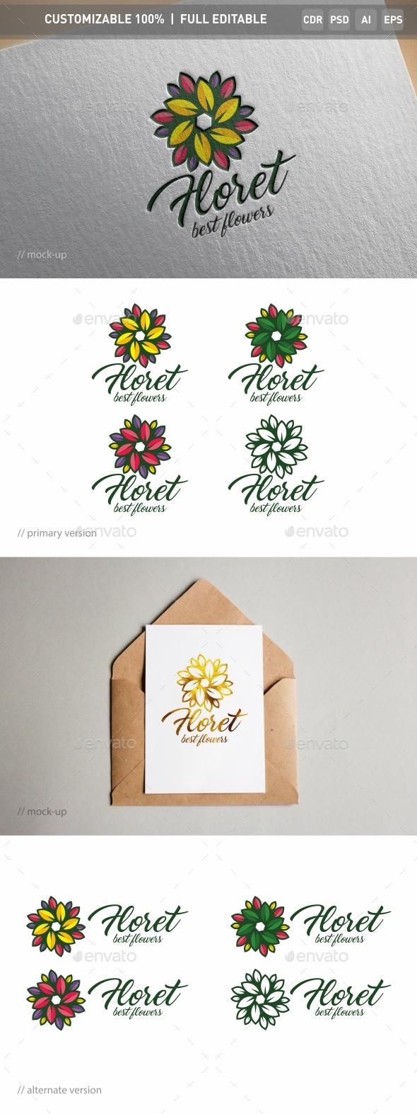 Floret Logo Template
