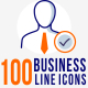 100 Corporate line Icons - GraphicRiver Item for Sale