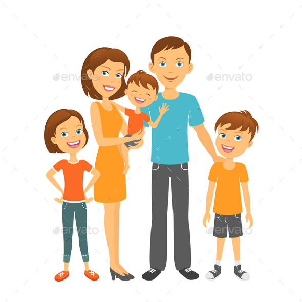 Mother and Father with Children