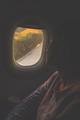 young beautiful woman sleeping in the passenger seat airliner. - PhotoDune Item for Sale