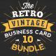 Mega 10 in 1 Bundle - Retro Vintage Business Card Template - GraphicRiver Item for Sale