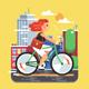City Bike Ride - GraphicRiver Item for Sale