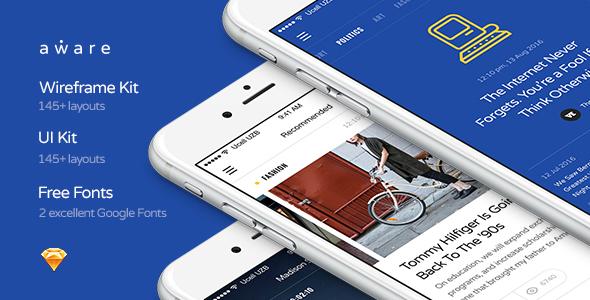 Zestaw Aware Mobile UI / UX