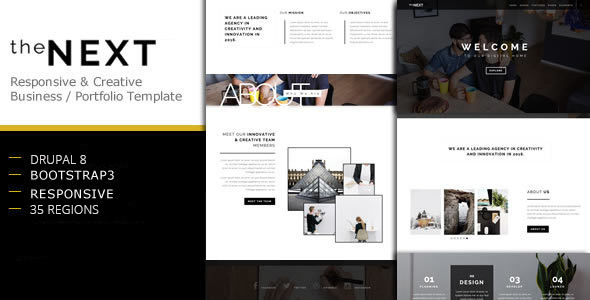 theNEXT - Creative Business Drupal 8 Theme