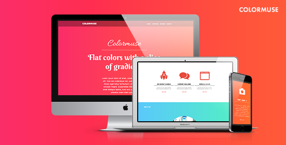 Colormuse - Colorful Muse Template for Portfolios & Creatives