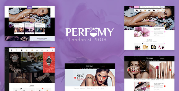 Perfomy -  Perfume / Jewelry / Accessories PSD Template