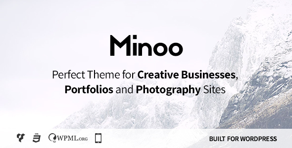 Minoo - WordPress Theme for Creative Businesses, Portfolio and Photographers