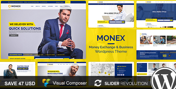 Monex - Money Exchange & Finance Business WordPress Theme