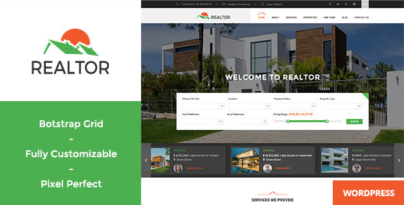Realtor - Responsive Real Estate WordPress Theme