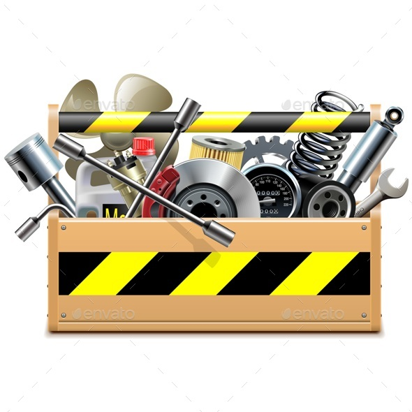 Vector Toolbox with Car Spares