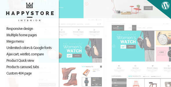 HappyStore - Responsive WordPress WooCommerce Theme
