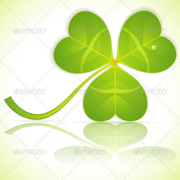 Leaf Clover on St. Patrick's Day