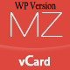 MilZinCard Resume / CV & Portfolio vCard WordPress Theme - ThemeForest Item for Sale
