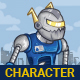 Blue Robot Game Character - GraphicRiver Item for Sale