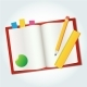 Blank Book Icon Pen Measure - GraphicRiver Item for Sale