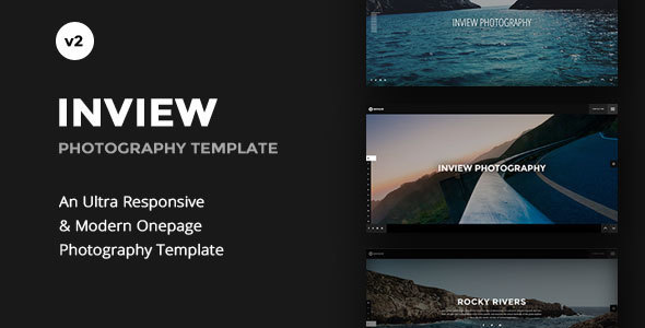 Fullscreen Photography WordPress Theme - Inview