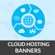 Cloud Hosting Banners - GraphicRiver Item for Sale