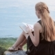 Pretty Girl Reading Book Outdoor - VideoHive Item for Sale