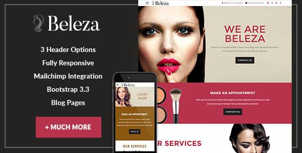 Beleza - Beauty One Page HTML5