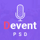 Devent - Events & Conference PSD Template - ThemeForest Item for Sale