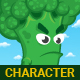 Green Broccoli Character Sprites - GraphicRiver Item for Sale