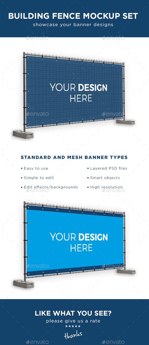 Outdoor Banner Mockup Graphics, Designs & Templates