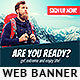 Adventure Travel Banner Ad - GraphicRiver Item for Sale