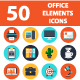 Office Elements Web Icons - GraphicRiver Item for Sale