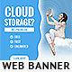 Cloud Hosting Banner Ad - GraphicRiver Item for Sale