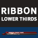 RIBBON Lower thirds and Transition - VideoHive Item for Sale