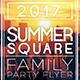 Summer Square Party Flyer - GraphicRiver Item for Sale