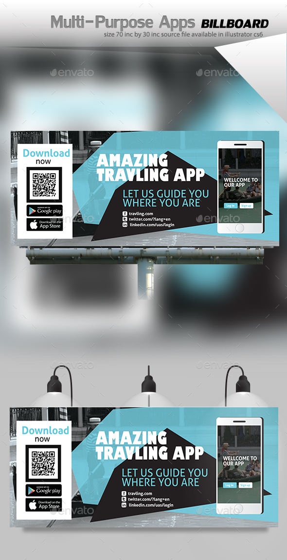 App Billboard Graphics, Designs & Template from GraphicRiver