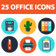 25 Office elements icons - GraphicRiver Item for Sale