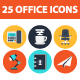 25 Office elements icon set - GraphicRiver Item for Sale