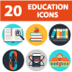 School icons - GraphicRiver Item for Sale