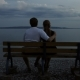 Couple Watching River In The Evening - VideoHive Item for Sale