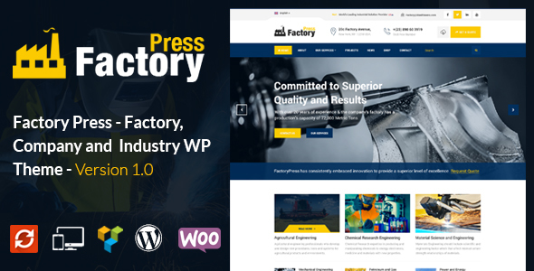 FactoryPress - Factory, Company And Industry WP Theme