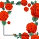 Red Roses On White Background. Vector Poster - GraphicRiver Item for Sale