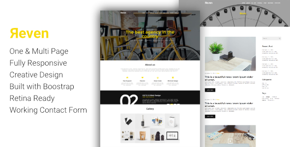 Reven - Creative Agency One & Multi Page HTML Template